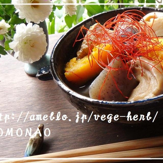 車麩と筍とかぼちゃの煮物♪余ったかぼちゃの煮物はおかずパンに(^^)
