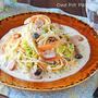お鍋1つで簡単!白菜とソーセージのクリームスープパスタ