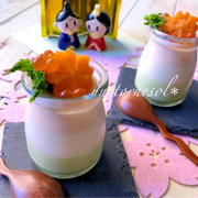 ひな祭りのおもてなしに❤︎骨粗しょう症効果に♪三色豆腐ムース♡レシピ