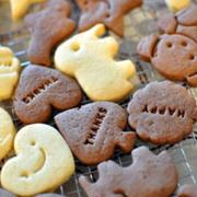 型抜きクッキー(ココア)