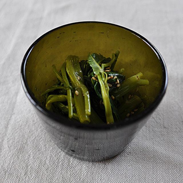 空芯菜の酢味噌和え