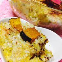 カボチャ里芋の焼きチーズコロッケ♪