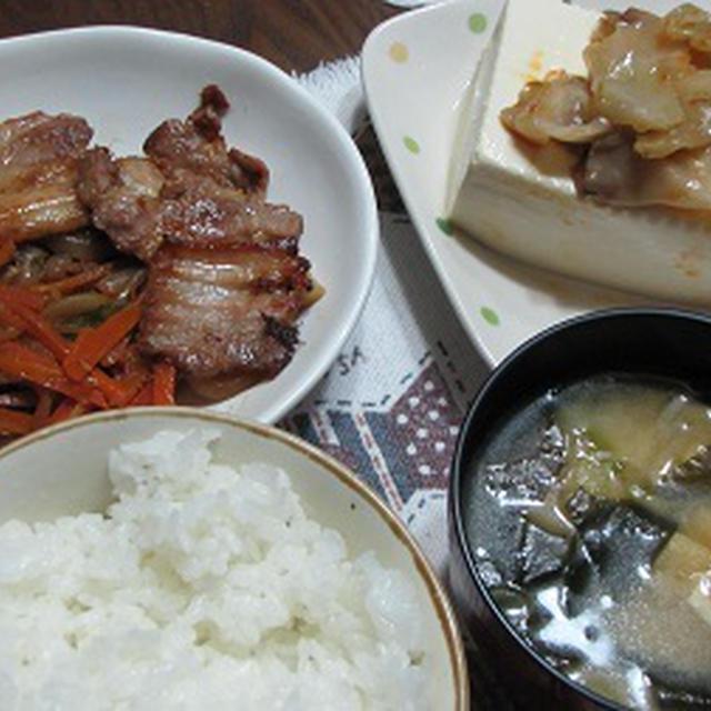 肉野菜炒め。。。
