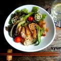 【簡単!!カフェ丼】鶏肉と夏野菜のゆずこしょうポン酢丼