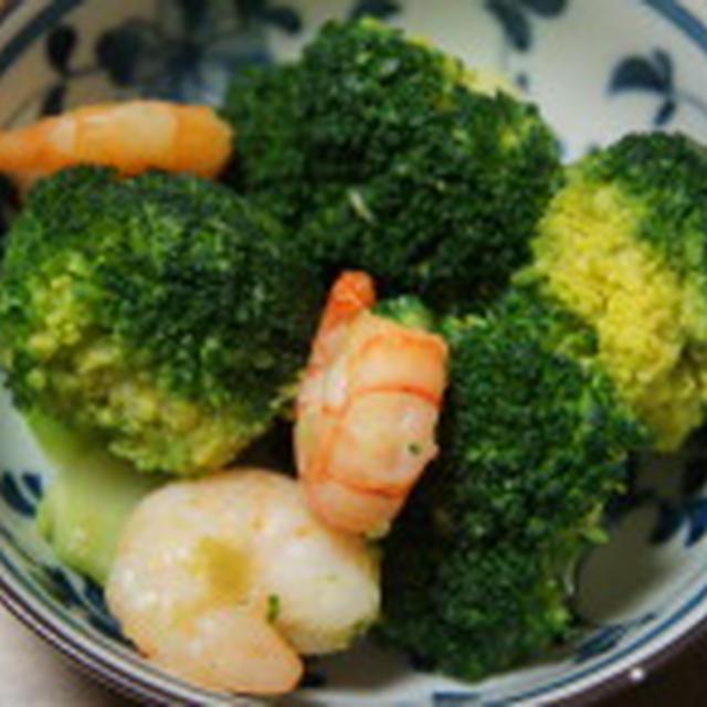 海老とブロッコリー炒め