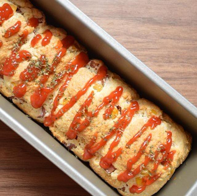 ホットケーキミックスで簡単!「ウインナーとコーンのちぎりパン」
