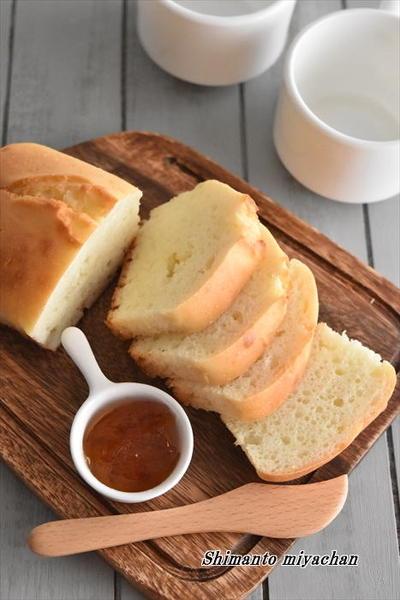 材料2つで!もちふわ食パン風ソーダブレッド