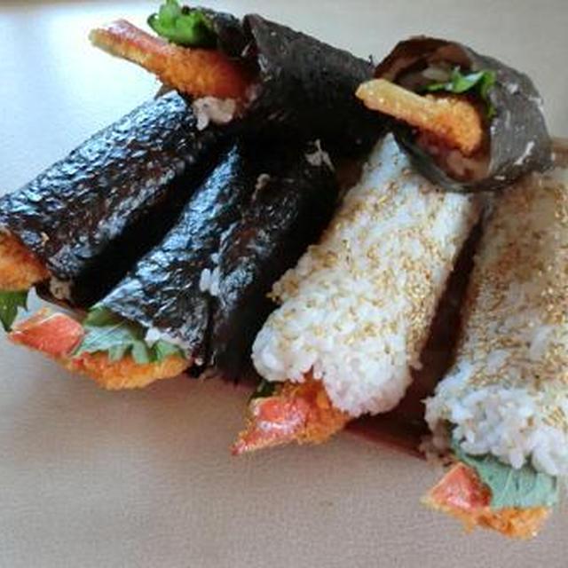 蟹足フライの寿司ロール 外国人が好きなお寿司