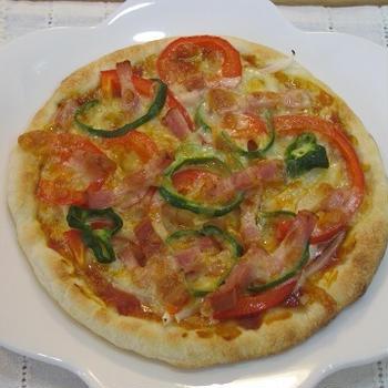 ちょっぴり小さめなピザ