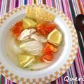 新玉ねぎがあまーい!春野菜のメキシカンライムスープ