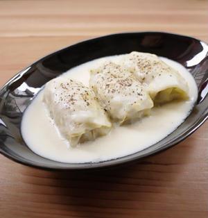 ロールキャベツのクリームシチュー煮