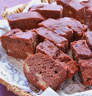 ティッシュの箱で一度に16切れチョコおからケーキ