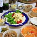 ◆トムヤン風のスープにおからサラダでおうちごはん♪~緩やか糖質制限中 by fellowさん