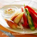 生野菜が美味しく食べられる【大根とみょうがの梅マヨディップ】