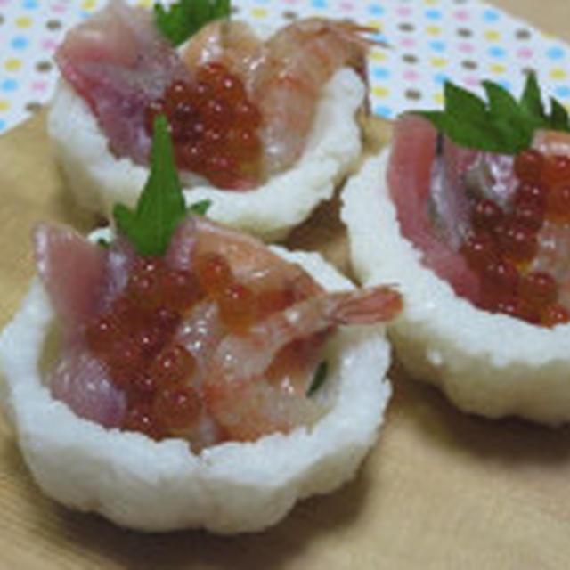 いつものぉ寿司を華やかに♪ ミニカップちらし寿司