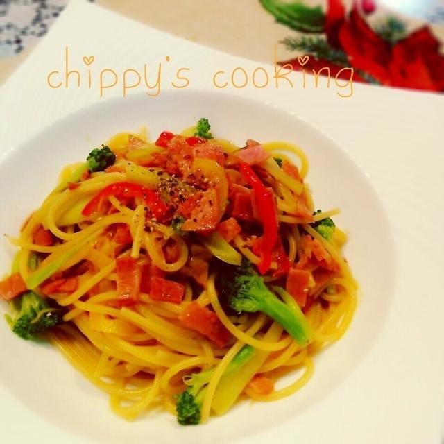 一手間で旨味増しカラフル野菜のペペロンチーノ