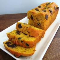 かぼちゃとチョコチップのパウンドケーキ