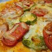 ブリックスナインとたっぷりチーズの手作りピザ
