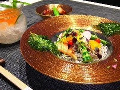 たまプラーザ 和食 ランチ(お昼) 夏のおすすめ!! 胡麻素麺 トマトのつゆでさっぱりと美味しい