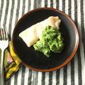 蒸し煮白身魚のホウレン草入りマッシュポテト添え