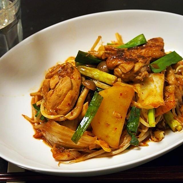 大量キャベツならこれ。鶏肉とたっぷり野菜のキムチ味噌焼き