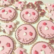 大好きなアポロチョコカラーのクリスマスクッキー