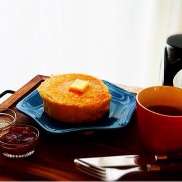 レンジ発酵*背の高いイーストパンケーキ