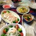 母の日の食卓&新じゃがのローズマリーポテト