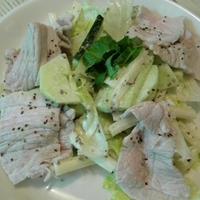 【スパイス】ゆで豚のマスタードサラダ