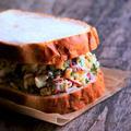 ラディッシュと玉子サラダのサンドイッチ