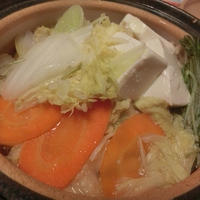 モランボン★PREMIUM★「地鶏だし ちゃんこ鍋」で一人鍋~♪