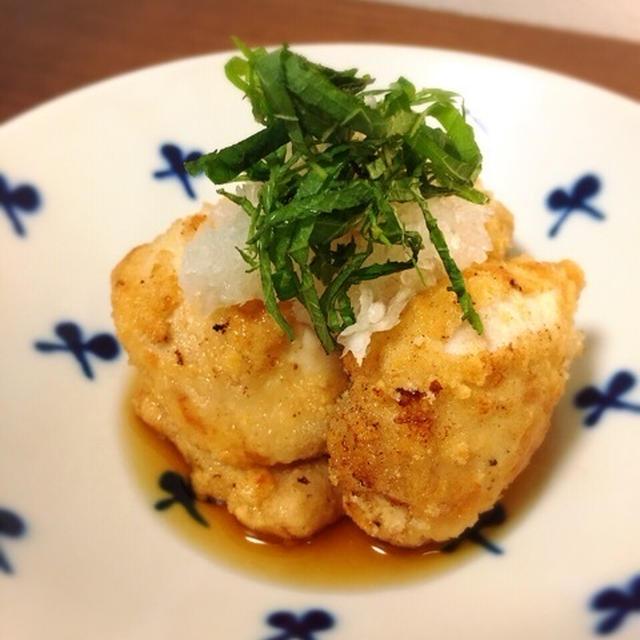 鮭の白子の天ぷら。