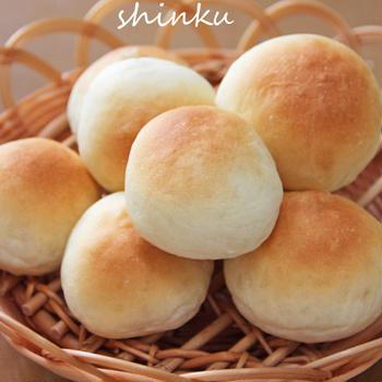 パン作り*シンプル丸パン、ハムチーズパン、あんぱん。