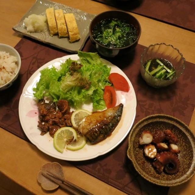 鯨のレモン風味焼の晩ご飯 と 続:早朝家庭菜園♪