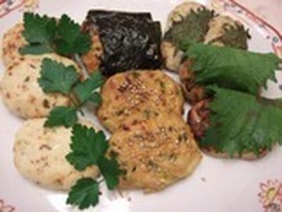 柚子コショウ、コチジャン、ローズマリー つくね3種