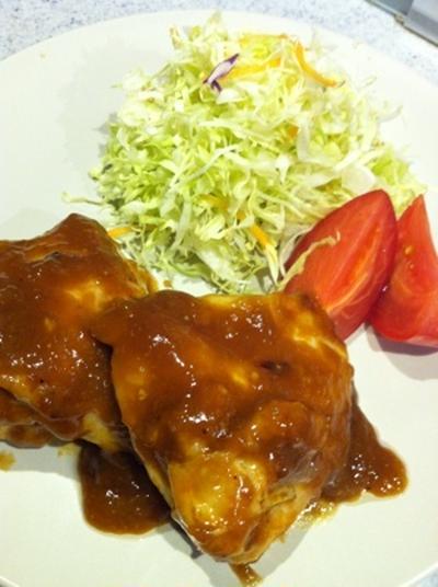 鶏胸肉のジューシィ照り焼き