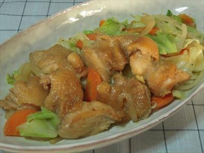 鶏肉味付けと野菜ジンジャーソテー