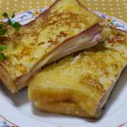 クロックムッシュ風☆豆乳・とろけるチーズ入りフレンチトーストサンド