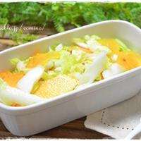 プチパエリアと白菜と柿のサラダ☆