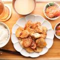 【献立付き】ご飯がすすむ!鶏むね肉と山芋の照り唐揚げ♪