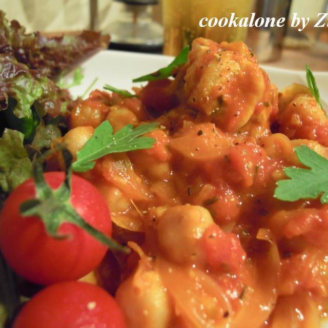 ひよこ豆とチキンのトマト煮