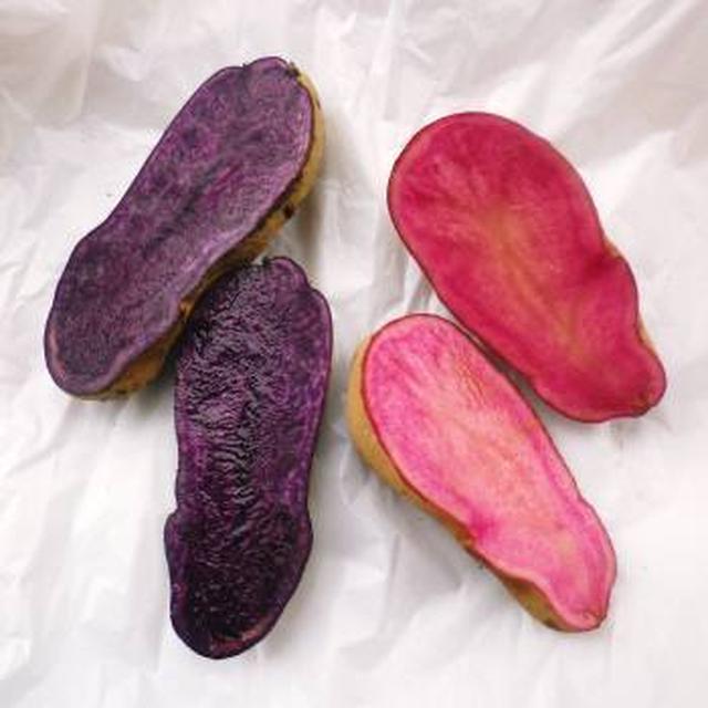 * ピンクと紫のジャガイモ&トマト酵母♪