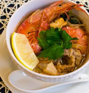 「ごちそうスープ」でユル低糖質【鍋みたいなエビと厚揚げのスープ】