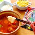 【なべしゃぶ】とろ~りモッツァレラチーズ しゃぶしゃぶガーリックトマトつゆ の作り方レシピ by 和田 良美さん