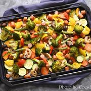 華やかなのに簡単ヘルシー! パーティーにもおすすめなソーセージと野菜の鉄板グリル