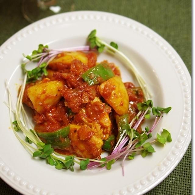 鶏とじゃがいものトマト煮