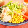 【缶詰レシピ】ささみ缶×コーン缶×たらこソースでごちそうラーメンサラダ by アップルミントさん