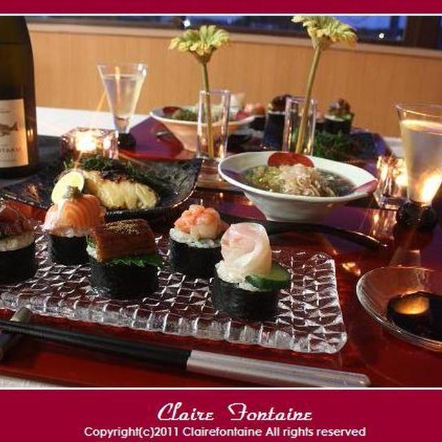 海苔巻き寿司いろいろ