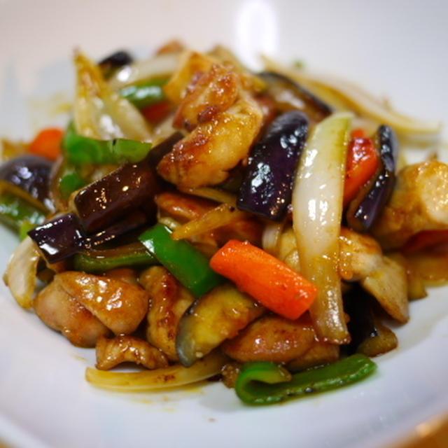 チキンと野菜のオイ酢ケチャップ炒め