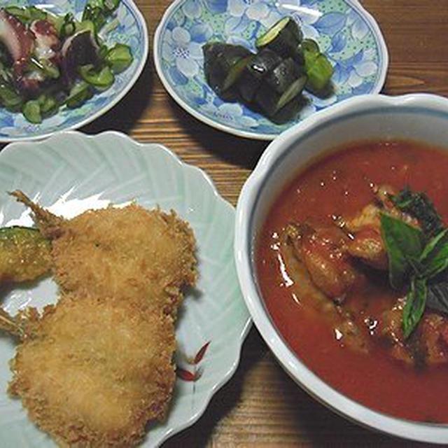 鶏肉のトマトソース煮と寝不足の理由